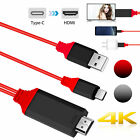 Type-C USB-C to HDMI w/Charging Cable Adapter for Samsung Galaxy S10 Note 9 Mac