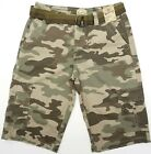 Mens Cargo Shorts Roebuck and Co Belted Long Inseam Lightly Distressed