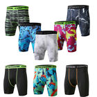 Men's Athletic Shorts Workout Running Jogging Camo Compression Trunks Tight fit