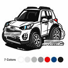 Graphic Decal Character Stickers 8 X 16inch 1Sheet for KIA 2017-2018 Sportage QL