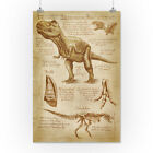 Tyrannosaurus Rex - Da Vinci Style - LP Artwork (Posters, Wood & Metal Signs)
