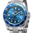 WINNER Mens Stainless Steel Calendar Display Automatic Mechanical Wrist Watches