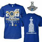 St. Louis Blues 2019 Stanley Cup Champions Jersey Roster T-Shirt - Royal $18.99 USD on eBay