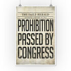 Prohibition Newspaper Cover - Passed By Congress (Posters, Wood & Metal Signs)