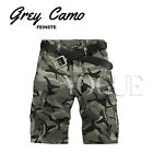 Men's Loose Military CAMO CARGO SHORTS Camouflage BERMUDA Work Army Baggy Pants