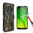 For Motorola Moto G7/Plus/Power/Supra/Play Case With Stand Clip/Screen Protector