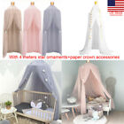 Elegant Princess Lace Netting Mesh Round Dome Bed Mosquito Bedding Tent Canopy R image