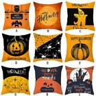 Pumpkin Witch Pillow Cushion Cover Halloween Decor Pillowcase Home Sofa Bed Case image