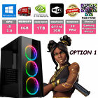 Fast Quad Core I5 Gaming Pc + Monitor Bundle 8gb Ram 1tb Hdd 128ssd Computer