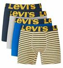 Levi's 4-Pack Men's Cotton Stretch Boxer Briefs Yellow Assorted Combo