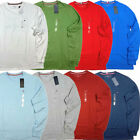 NWT Tommy Hilfiger Mens T-shirt Long Sleeve Crew Neck Tee Flag Logo Casual New  image