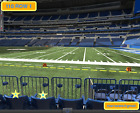 2 Front row Denver Broncos at Indianapolis Colts tickets Section 110 row 1