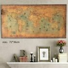 Vintage World Map Home Decor Large Poster Wall Ship Nautical Map Kraft Paper USA