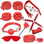 10pc Adult Sex SM Toys Handcuffs Strap Whip Rope Restraints System Set Sexy Game