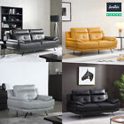Islington Black,Grey,Mustard Leather Suite Sofas | 3+2 Seaters & Armchairs