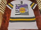 Large Licensed White LOS ANGELES LAKERS NBA Basketball T-Shirt. on eBay