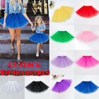 US Women Girl Princess Tulle Tutu Skirt Adult Kid Ballet Dance Part