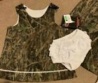 NEW True Timber Conceal Green Camo Dress w/ White Lace Panty Size 4T