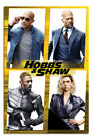 Laminated Fast & Furious Hobbs & Shaw Cast Official Licensed 24 x 36 Inches