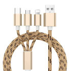 4Pcs Fast USB Charging Cable Universal 3 in 1 Multi Function Phone Cord Charger