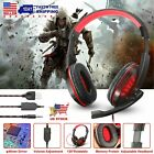 3.5mm Gaming Headset MIC LED Over Ear Headphones Stereo for PC PS4 Pro Xbox one