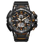 Men's Sport Luxury Army Military Waterproof LED Resin Analog Digital Wrist Watch image