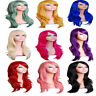 70CM Fashion Women Anime Wig Long Curly Synthetic Hair Party Cosplay Full Wig