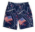 """NWT Polo Ralph Lauren Men's Relaxed Fit 10"""" Sailing Chino Shorts American flag"""