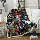 Cool Horror Movie 3D Print Sherpa Blanket Sofa Couch Quilt Cover Throw