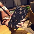 QUALITY BEAUTIFUL Carved Rose Hollow Detail Silicone Iphone 6s 7 8 Plus Case