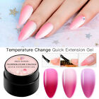MEET ACROSS 8ml Temperature Change Poly Quick Building Nail Tips Extension Gel