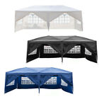 10'x20' Outdoor Gazebo Canopy Wedding Party Tent 6 Removable Window Walls