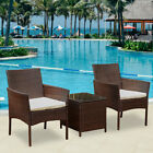 Set 3 Rattan Garden Furniture Set Patio Outdoor Table Chairs Conservatory