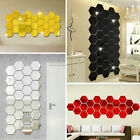 12pcs Wall Mirror Stickers 3d Hexagon Art Diy Mural Decal Home Decor Removable