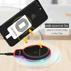 Qi Wireless Charger Pad Dock Charging +Receiver for i.Phone 5/6/6s Plus/7Plus/SE