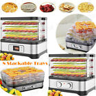 Food Dehydrator Electric Fruit Vegetable Meat Dryer Machine 8 Trays BPA-FREE US