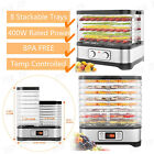 New Food Dehydrator Electric Fruit Vegetable Meat Dryer Machine 8 Trays BPA-FREE