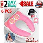 Portable Toilet Potty Training Seat Cover Liners Reusable Foldable Large Pink image