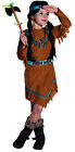 Red Indian Woman Childrens Costume Girl Squaw Wild West