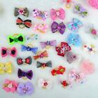 Dog Pet Hair Clips Yorkshire Dogs Hairpin Grooming Lace Bowknot Accessories BE