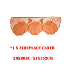 New Thanksgiving Lace Fireplace Cloth Pumpkin Maple Leaf Mantle Scarf Decor Set