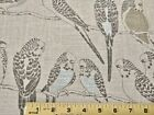 "Linen Waverly Decorator Screen Print Parakeets with Metallic 56"" Wide Fabric BTY"