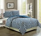 Cortez Navy/White Reversible Comforter Set image