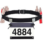 Sport marathon belt running race number holder waist bib belt unisex XL image