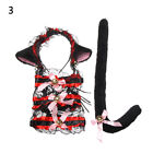 Lovely Small bell Anime Costume Accessory Cosplay Set Cat Tail Plush Cat Ears