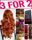 Hair Extensions Clip in real human Feel Ginger Blonde Red Copper Light Honey