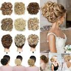 100% Real LARGE Chignon Clips in Hair Extensions Messy Bun As Human Hairpiece US