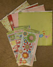 Bo Bunny 12x12 Scrapbook Paper Flirty Thrill Flower Birds Dots Sticker 2 sheets