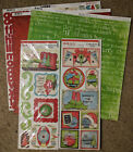 Bo Bunny 12x12 Scrapbook Paper Tis the Season Christmas Sticker 2 sheets