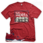 "New Red ""DEAD PRESIDENTS"" T Shirt for Jordan 4 FIBA Gym Red  image"